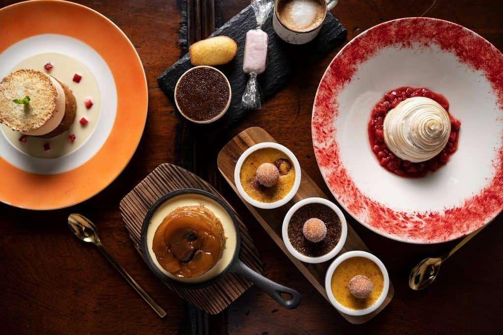 Assortment of desserts in Favorite Bistro